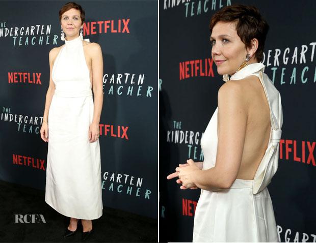 Maggie Gyllenhaal In Prada - Netflix's 'The Kindergarten Teacher' New York Screening