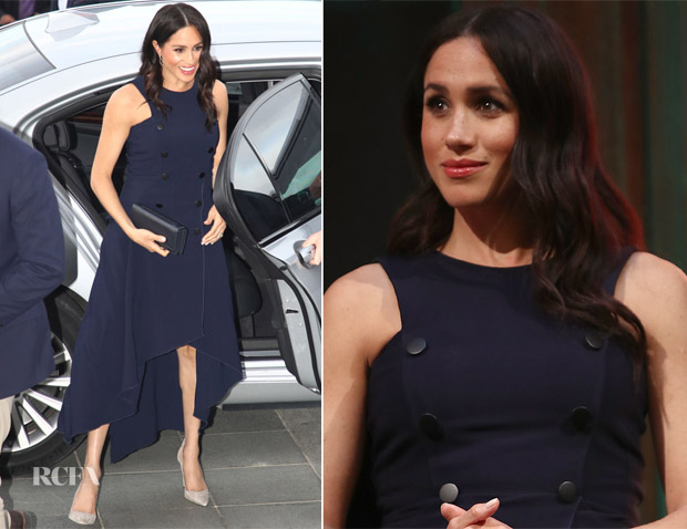 Meghan, Duchess of Sussex In Antonio Berardi - Auckland War Memorial Museum