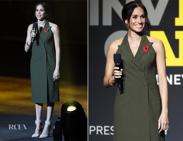 Meghan, Duchess of Sussex In Antonio Berardi - Invictus Games Closing Ceremony
