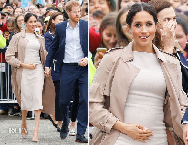 Meghan, Duchess of Sussex In Brandon Maxwell & Burberry - Pillars Charity Event