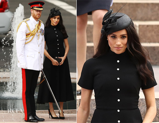 Meghan, Duchess of Sussex In Emilia Wickstead - Official Opening Of The Extension Of The ANZAC Memorial