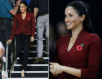 Meghan, Duchess of Sussex In Theodore Scanlan - Invictus Games' Wheelchair Basketball Finals