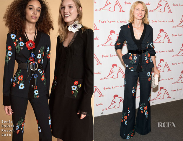Naomi Watts In Sonia Rykiel - 'Take Home A Nude' New York Academy Of Art Benefit