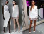 Naomie Harris In David Koma - Guggi Sculpture Unveiling Event