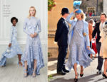 Poppy Delevingne In Oscar de la Renta - Princess Eugenie Of York's Wedding