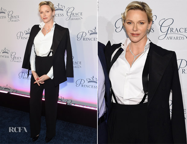 Princess Charlene of Monaco In Ralph Lauren - 2018 Princess Grace Awards Gala