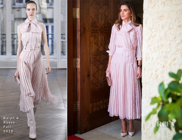 Queen Rania In Ralph & Russo - Sweden's Royal Visit