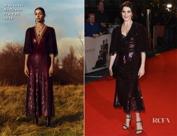 Rachel Weisz In Alexander McQueen - 'The Favourite' London Film Festival Premiere