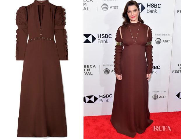 Rachel Weisz's Chloe Embellished Cutout Crepe Gown