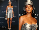 Rihanna In Atelier Versace - Fenty Beauty by Rihanna Anniversary Event