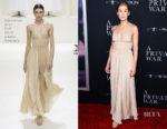 Rosamund Pike In Christian Dior Haute Couture - 'A Private War' LA Premiere