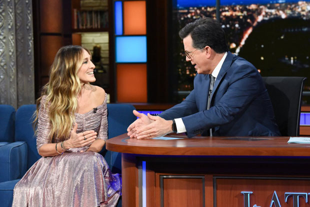 Sarah Jessica Parker In Emila Wickstead - The Late Show With Stephen Colbert
