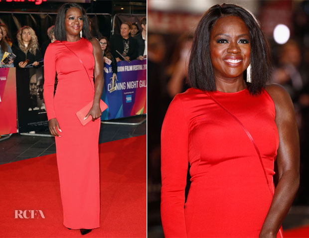 Viola Davis In Akris - 'Widows' London Film Festival Premiere