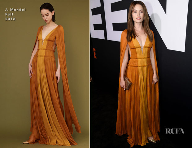 Virginia Gardner In J. Mendel - 'Halloween' LA Premiere