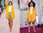 Yara Shahidi In Carolina Herrera - #girlhero Award Luncheon