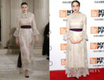 Zoe Kazan In Valentino Haute Couture - Netflix's 'The Ballad of Buster Scruggs' NYFF Red Carpet