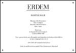 Erdem London Sample Sale