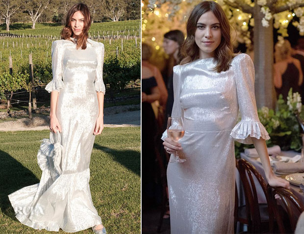 Alexa Chung In The Vampire's Wife - 2015 Vintage Joy Sparkling Launch