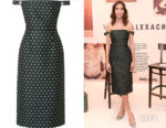 Alexa Chung's ALEXACHUNG Embellished Off-The-Shoulder Dress