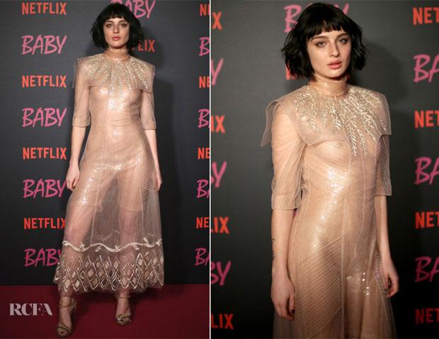 Alice Pagani In Fendi - Netflix's 'Baby' World Premiere