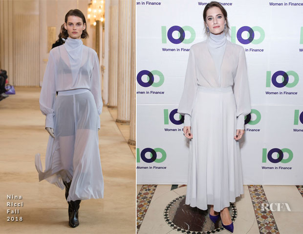 Allison Williams In Nina Ricci - 100 Women In Finance 17th Annual Fundraising Gala