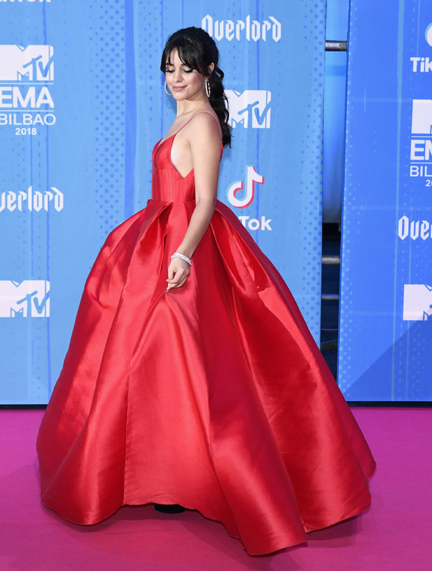 Camila Cabello In Alex Perry - 2018 MTV EMAs