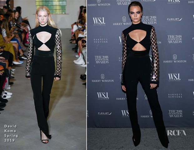 Cara Delevingne In David Koma - WSJ. Magazine 2018 Innovator Awards