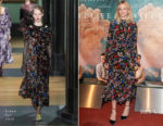 Carey Mulligan In Erdem - 'Wildlife' Paris Premiere
