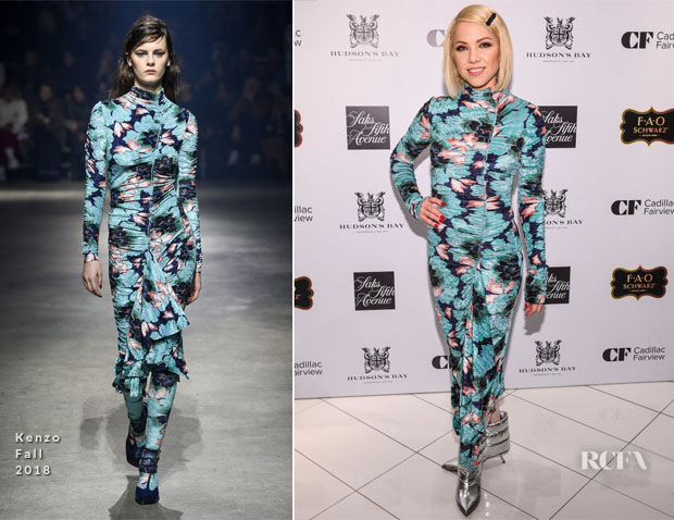 Carly Rae Jepsen In Kenzo - Hudson's Bay Hosts 3rd Annual Window Unveiling