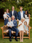 Catherine, Duchess of Cambridge In Alessandra Rich & Meghan, Duchess of Sussex In Givenchy - Prince of Wales Family Portrait (2)
