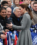 Catherine, Duchess of Cambridge In Catherine Walker - Leicester City Visit