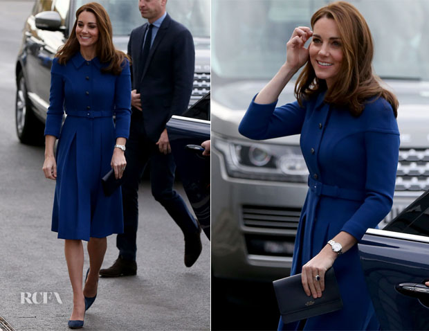 Catherine, Duchess of Cambridge In Eponine London - McLaren Automotive Composites Technology Centre