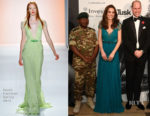Catherine, Duchess of Cambridge In Jenny Packham - The Tusk Conservation Awards