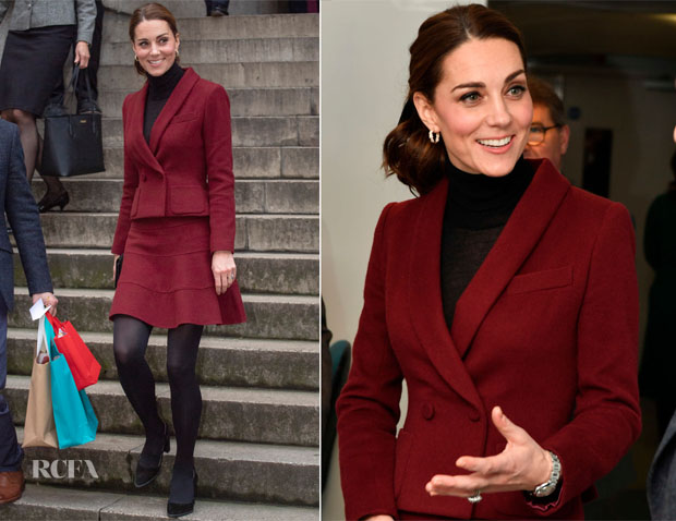 Catherine, Duchess of Cambridge In Paule Ka - UCL Developmental Neuroscience Lab Visit