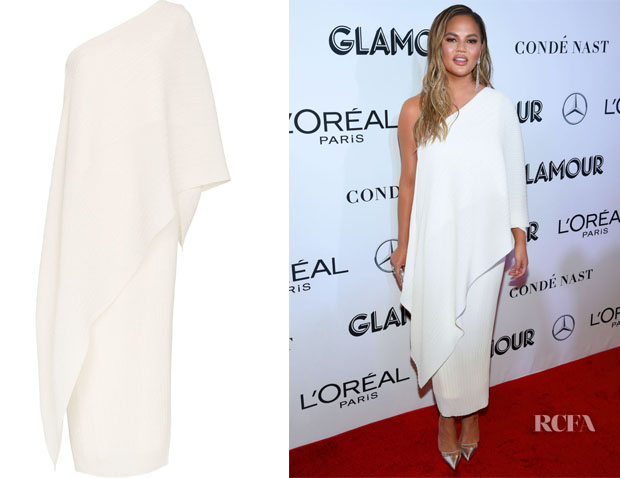 Chrissy Teigen's Solace London Sanna Asymmetric Dress
