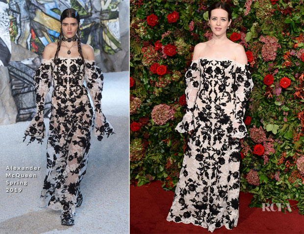Claire Foy In Alexander McQueen - 2018 Evening Standard Theatre Awards
