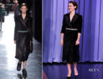 Claire Foy In Christopher Kane - The Tonight Show Starring Jimmy Fallon