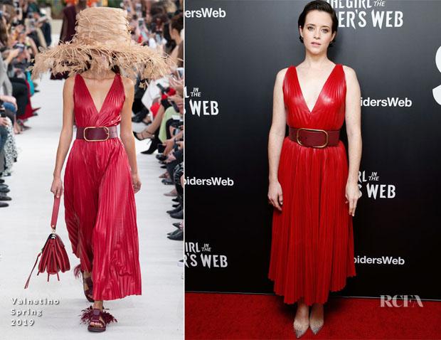 Claire Foy In Kitri, Rosetta Getty & Valentino - 'The Girl In The Spider's Web'