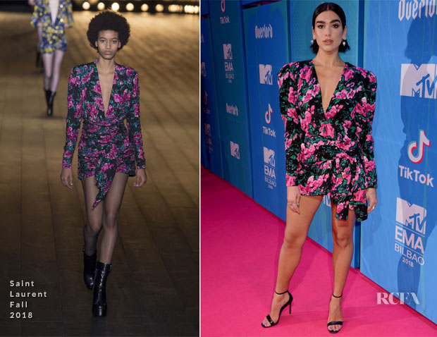 Dua Lipa In Saint Laurent - MTV EMAs