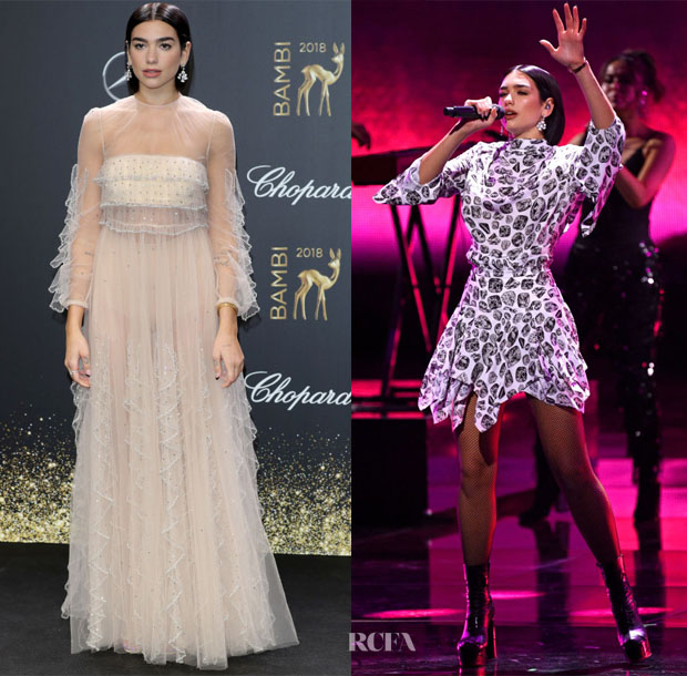Dua Lipa In Valentino & Christopher Kane - 2018 Bambi Awards