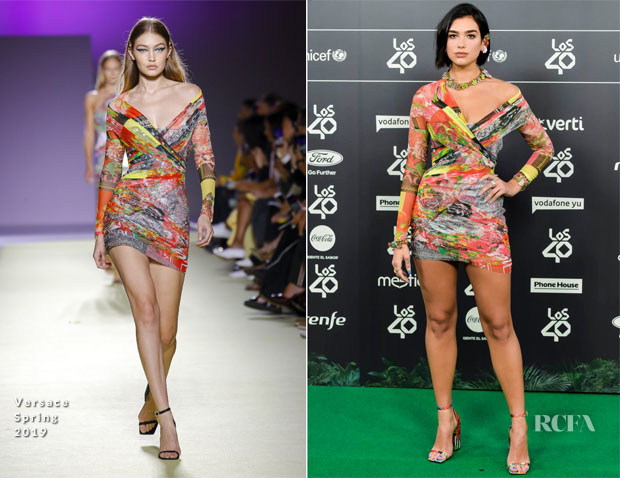 Dua Lipa In Versace - LOS40 Music Awards