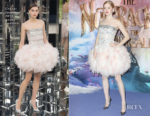 Ellie Bamber In Chanel Haute Couture - 'The Nutcracker and the Four Realms ' London Premiere