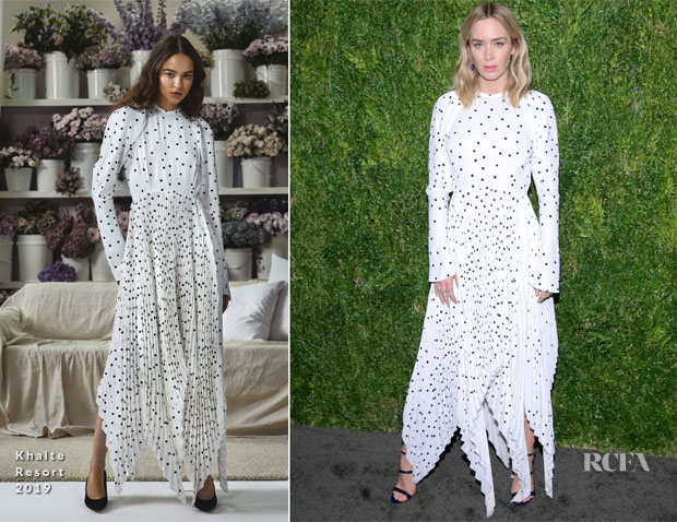 Emily Blunt In Khaite - CFDA / Vogue Fashion Fund 15th Anniversary Event