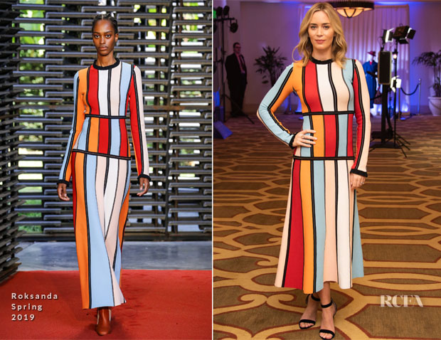 Emily Blunt In Roksanda - 'Mary Poppins Returns' Press Conference