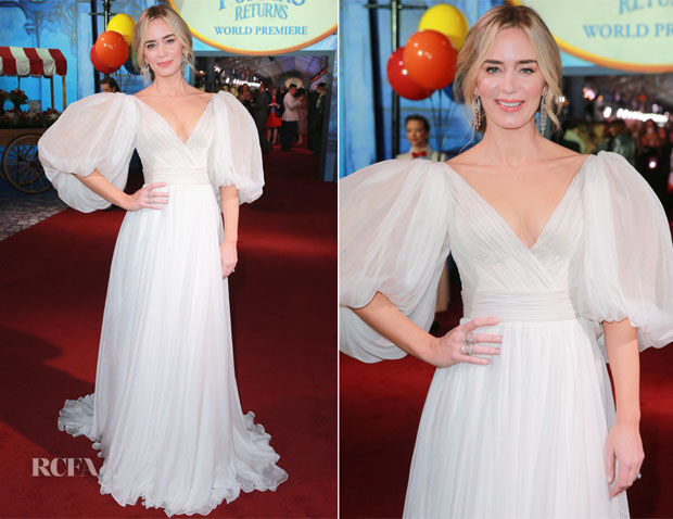 Emily Blunt In Yanina Couture - 'Mary Poppins Returns' LA Premiere