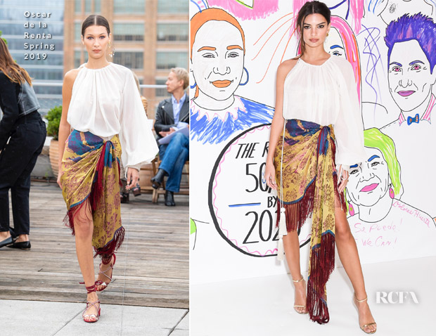 Emily Ratajkowski In Oscar de la Renta - TheWrap's Power Women Summit