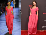 Emily Ratajkowski In Prabal Gurung - 'Welcome Home' LA Premiere