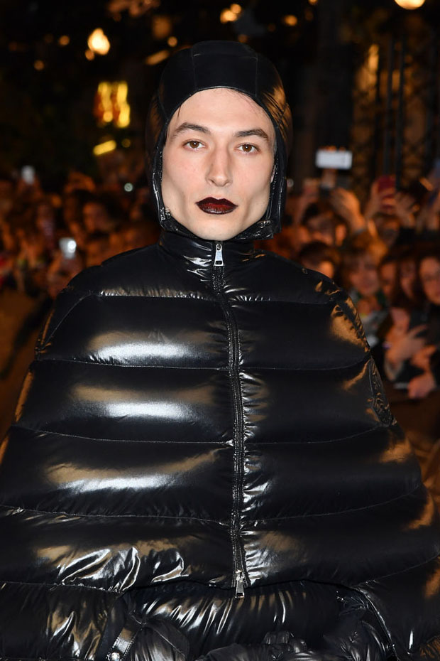 Ezra Miller In Moncler x Pierpaolo Piccioli - 'Fantastic Beasts The Crimes Of Grindelwald' World Premiere