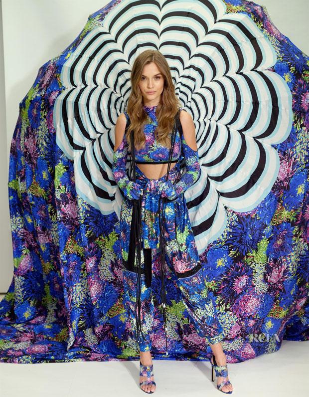 First Look: Josephine Skriver's Victoria's Secret X Mary Katrantzou Fitting