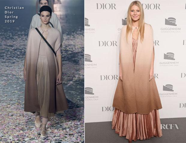 Gwyneth Paltrow In Christian Dior Haute Couture - Guggenheim International Gala